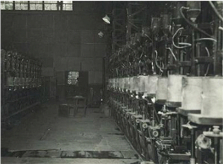 Inside of the factory around 1965
